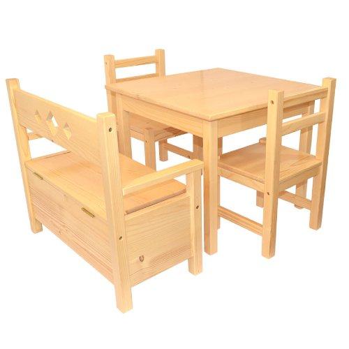 Muebles Para Niños De Pino Macizo Natural Barnizado Conjunto de ...