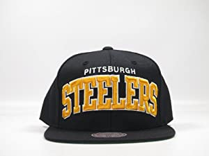 Mitchell & Ness NFL Current Arch One Tone Snapback Hat (NFL Pittsburgh Steelers) by Mitchell & Ness