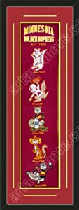 Heritage Banner Of Minnesota Golden Gophers With Team Color Double Matting-Framed... by Art and More, Davenport, IA