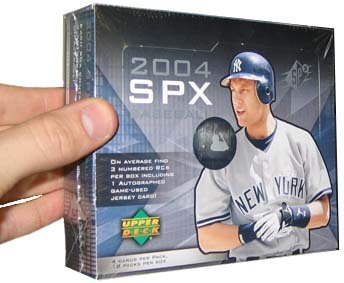 2004 Upper Deck SPX Baseball Hobby Box(18 packs/box, randomly inserted jerseys & autographs)