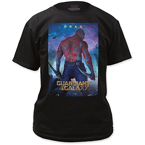 Guardians of the Galaxy Drax Poster Marvel Adult T-Shirt