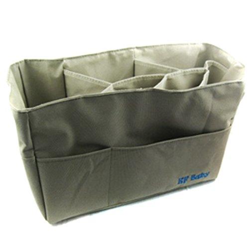 KF Baby Diaper Bag Insert Organizer - 12 x 6.4 x 8 inch Khaki (brown)