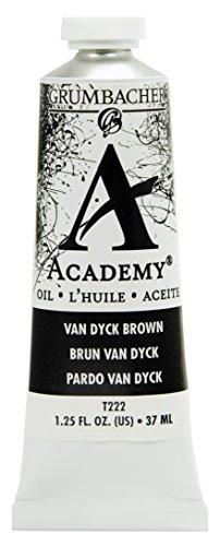 GRUMBACHER Prismacolor Academy Oil Colors, Van Dyke Brown 125 oz (T222)