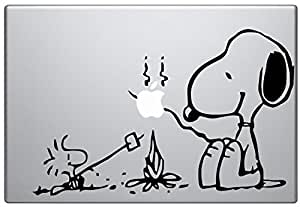 "Macbook 13"" 15"" inch decal sticker (autocollant) Snoopy Camp Fire Apple Laptop"