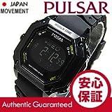 SEIKO PULSAR (セイコー パルサー) PW3003 デジタル クロノグラフ ブラック ラバーベルト メンズウォッチ 腕時計 [並行輸入品]