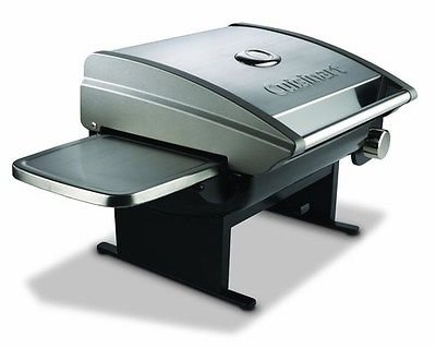 Cuisinart CGG-200 Outdoor Use Propane Gas Tabletop Grill with Folding Side Shelves