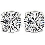 1Pair Clear Crystal Magnet Earring Unisex Men's Earring