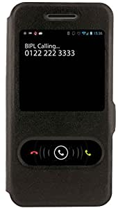 Armor Premium Slim Flip Cover Vintage For Asus Zenfone 4 A450CG (Black) Magnetic closure