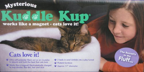 Mysterious Kuddle Kup Cat Bed, White