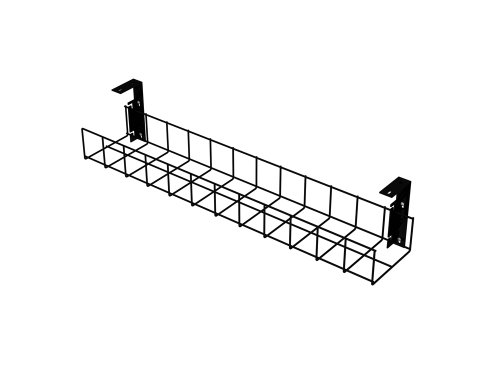 amp-wire-under-desk-cable-tidy-basket-815mm-long-black