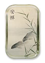 Peaceful Koi - Rectangle Glass Paperweight (2-1/2\