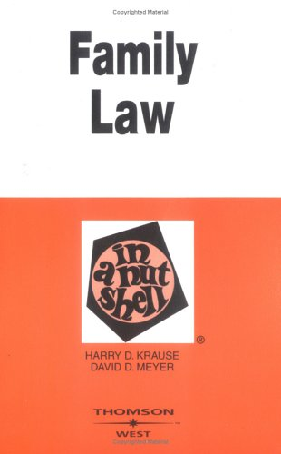 Family Law: In a Nutshell (Nutshell Series)