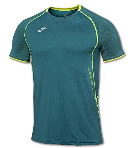 JOMA OLIMPIA FLASH T-SHIRT RUNNING GREEN S/S L