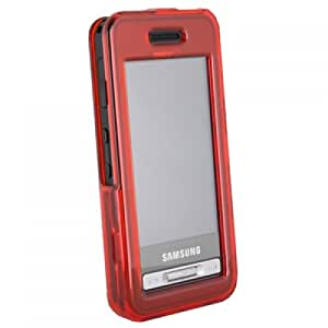 Wireless Xcessories Protective Shield Case with Swivel Belt Clip for Samsung Finesse R810 - Red