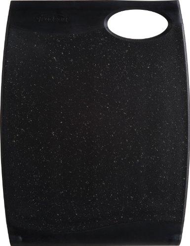 Trudeau Wave 12 by 16-Inch Reversible Cutting Board, Black Granite