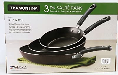 Tramontina 3 Pack of Saute Pans 8in, 10in, & 12in