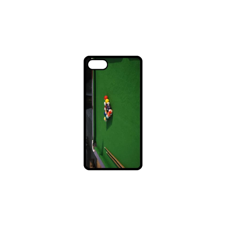 Pool Table Image Black Apple Iphone 5 Cell Phone Case   Cover