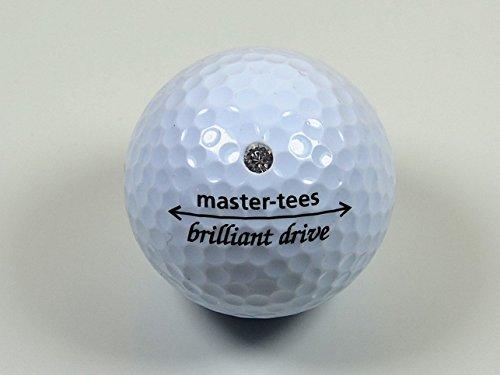 Brilliant-Ball (1 Stück), Golfball mit Swarovski, ideales Golfgeschenk