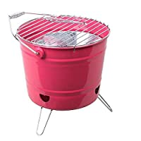 St. Millers Portable Barbecue Grill Bucket Type, 1Pc,Pink