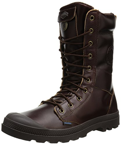 Palladium Men's Tactical Leather WP Snow Boot,Mahogany,13 M