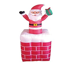 5 foot animated christmas inflatable santa claus rising for Animated santa claus decoration
