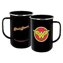 ICUP 7577 DC Wonder Woman Insignia Enamelware Mug, Multicolor