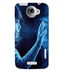 ColourCraft Cute Little Girl Design Back Case Cover for HTC ONE X