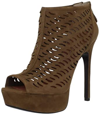 Via Spiga Women's Hina Laser Cut Bootie,Saddle,8 M US