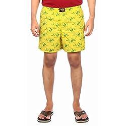 Aaduki Men's Cotton Shorts_Yellow-M