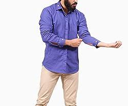 Fadjuice Men's Shirt (Fj43752L_Ultra Marine Blue_Large)
