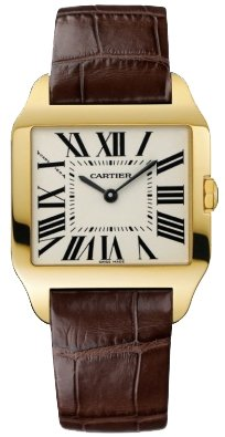 Cartier New Cartier Santos-dumont Small Solid 18k Gold Watch W2009351