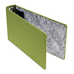 PFXS25572 - Green Canvas Legal 3-Ring Binder