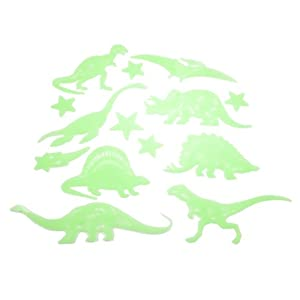 Amico 28Pcs Ceiling Glow in Dark Star Dinosaur Fluorescent Luminous Stickers Green by Amico
