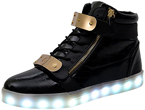 Poppin-Kicks-Unisex-Adults-Supreme-LED-Light-Up-Shoes-Men-Women-Street-Style-Leather-High-Top-Sneakers