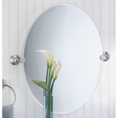 "Laurel Avenue Oval Tilting Mirror - 23-1/2"" X 32"" front-633062"