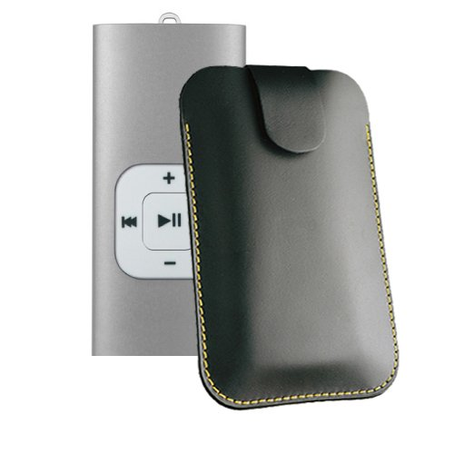 Tasche für Odys MP3-Vibe Musik Player Hülle Case Etui Ledertasche für MP3-MP4-Audio-Media-Player