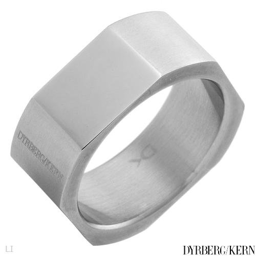 DYRBERG/KERN of DENMARK! Polished and Assembled by Hand Beautiful Shiny Silver Finish Stainless Steel Plating Ring (Size 11)
