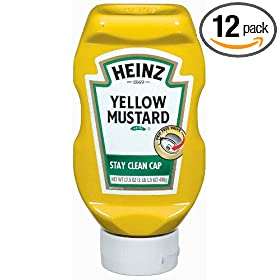 Mustard, 17.5-Ounce Squeeze Bottles (Pack of 12): Amazon.com