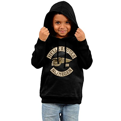 Hells Angels Motorcycle Children's Pullover Hood Fleece Crew Sweatshirt 5-6 Toddler (Pushing Cycle For Toddlers compare prices)