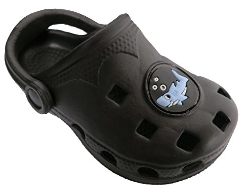 Rising Star Shark Black Water Clogs - Toddler - 1