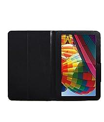Acm Executive Leather Flip Case For Iball Slide 3g 1026-Q18 Tablet Front & Back Flap Cover Stand Holder Black