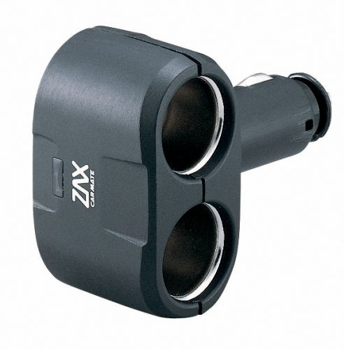 Car Mate Cz206A 15 Amp 2-Way Auxiliary Socket Adapter - Pack Of 1