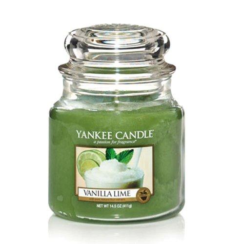 Yankee Candle Bougie parfumée Vanille Citron Vert Jarre moyenne 411 g