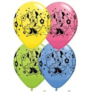 Disney Minnie Mouse 12 inch Balloons - Package of 6
