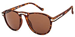 Rafa Oval Sunglasses (Brown) (7038DEMI)