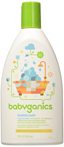 Babyganics Bubble Bath Bundle,  20 Oz Bottles,  Fragrance Free (Pack of 2)