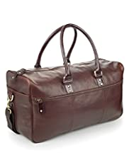 Burnished Leather Square Holdall