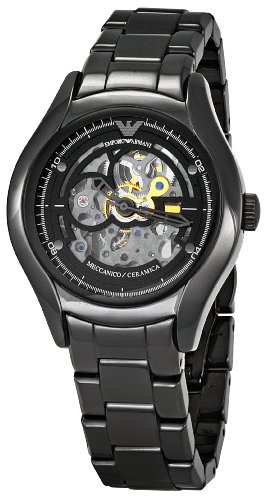 Emporio Armani Men's AR1427 Meccanico Skeleton Dial Watch
