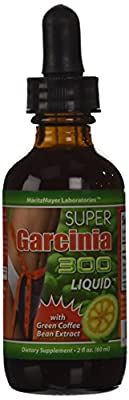 Super Garcinia Cambogia 300 Liquid (50% HCA) with Green Coffee Bean Extract (50% Chlorogenic Acid) Weight Loss Diet Drops - 2fl Oz (60ml)