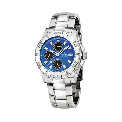 FESTINA Sport 16242/4 - Reloj unisex de cuarzo, correa de acero inoxidable color plata